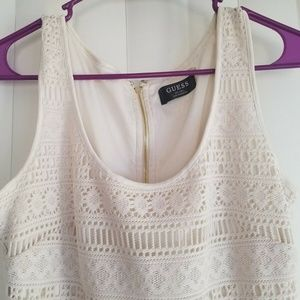 Guess ivory bodycon lace dress size 6